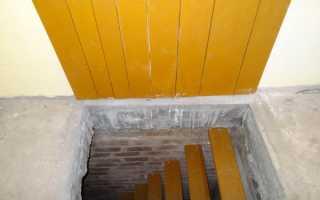 Лестницы в погреб: как расчитать ступени и построить своими руками