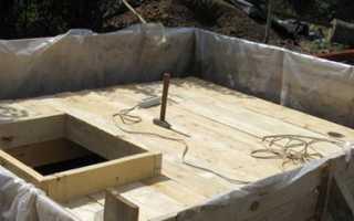 Погреб из плоского шифера и бетона — строительство