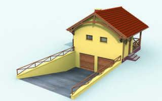 Различные проекты домов с гаражом – с цоколем