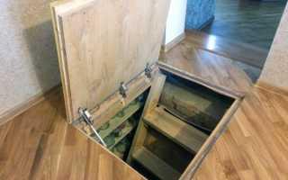Погреб под домом: как сделать вход с дома