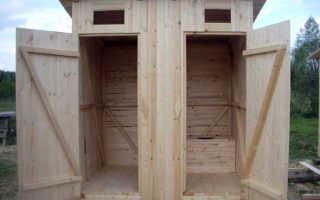 Туалет с кладовкой для дачи: как построить санузел с чуланом