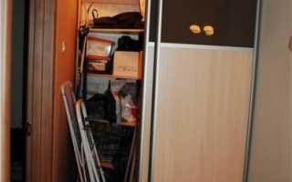 Двери купе в кладовку: фото и варианты в хрущёвке