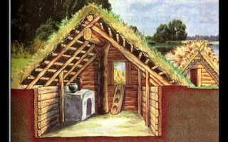 Как построить землянку в лесу с печкой