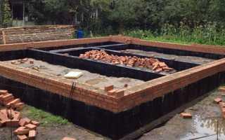 Кладка цоколя из кирпича — подготовка и проведение работ