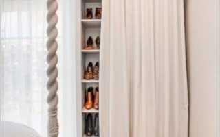 Шторные двери для кладовки: плюсы для чулана