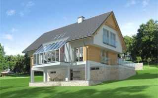 Проекты домов с цокольным этажом на склоне: некоторые примеры, скандинавский вариант и двухэтажный коттедж