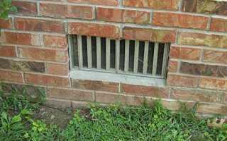 Продухи в фундаменте — делаем вентиляционные отверстия
