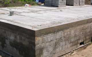 Цокольное перекрытие — материалы и технология строительства