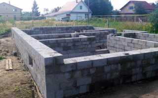 Цоколь из керамзитобетонных блоков — технология постройки