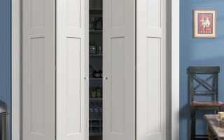 Складные двери в кладовку: как выбрать раздвижные варианты