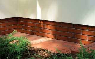 Клинкерная плитка для цоколя – особенности облицовки