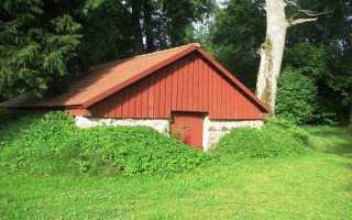 Наземный погреб: как построить на даче своими руками при высоком уровне грунтовых вод?
