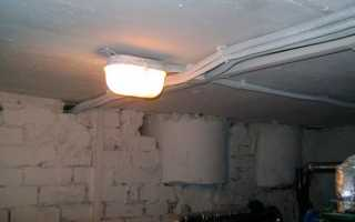 Освещение в подвале — электропроводка и светильники