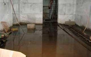 Грунтовые воды в подвале — как избавиться от затопления