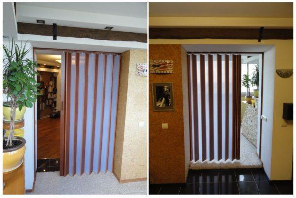 Двери для кладовки в квартире гармошки