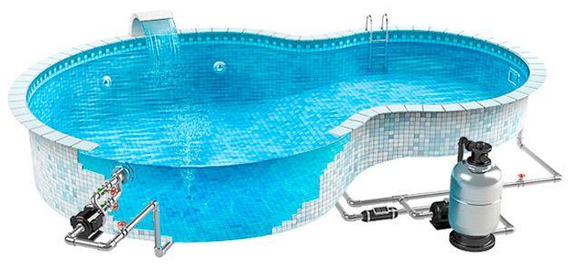 Схема искусственного водоема