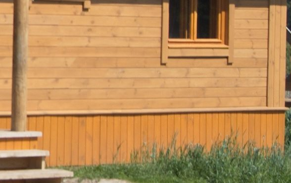 Древесная обшивка фасада