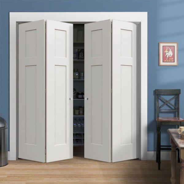 Складные двери в кладовку