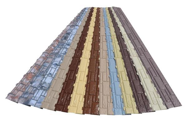 Эти виниловые панели предназначены для облицовки цоколя.