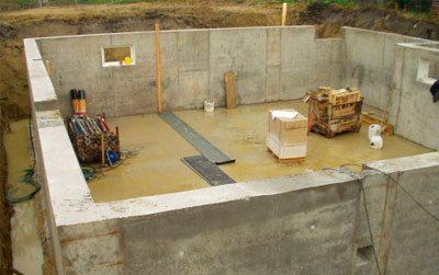 Фото строительства подвала