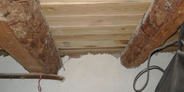 Подпол деревянного дома