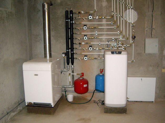 Система отопления в подвале