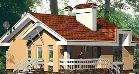 На фото внешний вид одноэтажного проекта – существуют варианты с мансардой или без