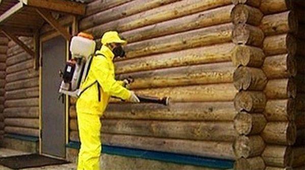 Нанесение специальных химических растворов путём распыления