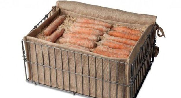 Ящик с морковью