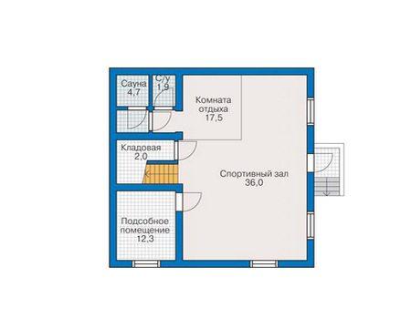 План цокольного этажа для небольшой площади.