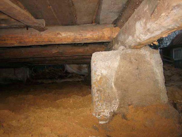 Подпол в деревянном доме