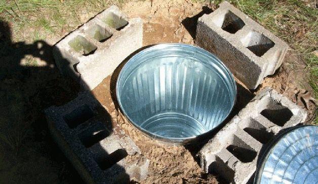 Погреб из металлической бочки