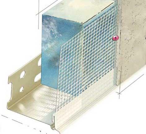 Показана армирующая сетка внутри слоя.