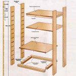 Схема деревянных стеллажей для погреба