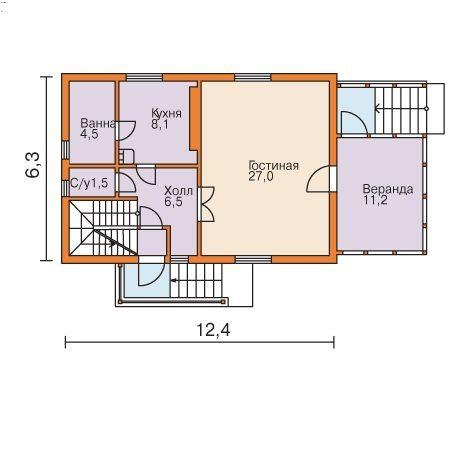 Проект основного этажа