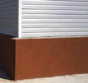 Штукатурное покрытие создает ровную красивую поверхность.