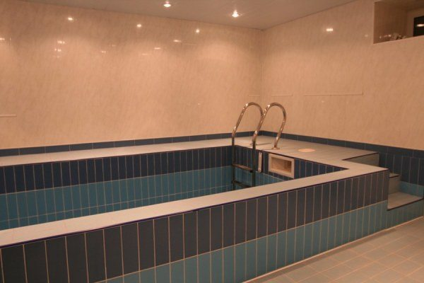 Также можно своими руками соорудить бассейн на цокольном этаже.