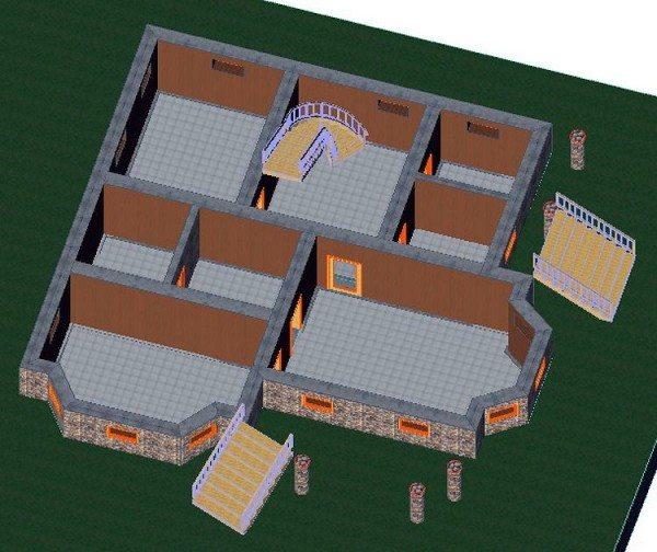 Трехмерный проект подземного помещения