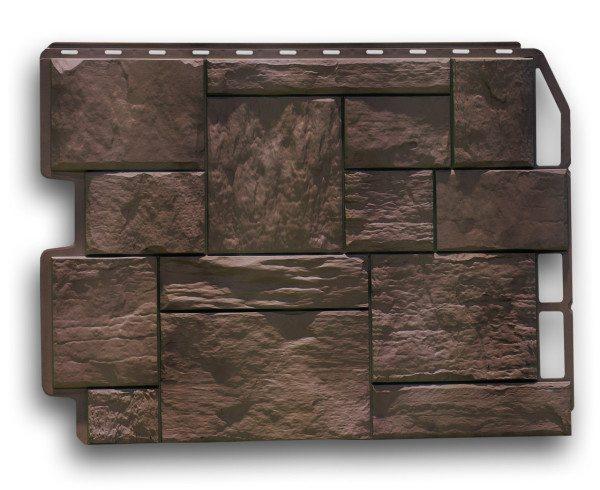 Цокольный металлосайдинг под камень. Образец панелей