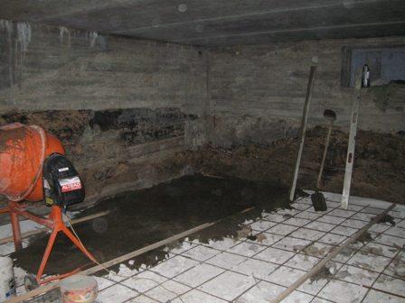 Вам понадобится стандартный набор инструментов для бетонных работ.