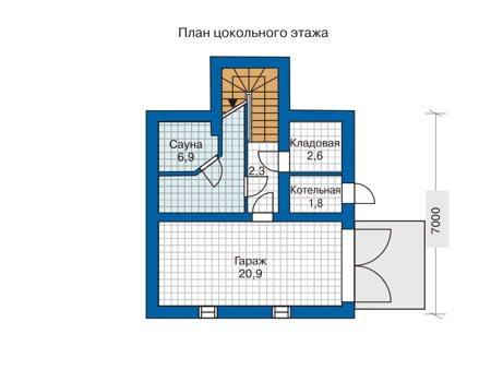 Вариант планирования подземного помещения