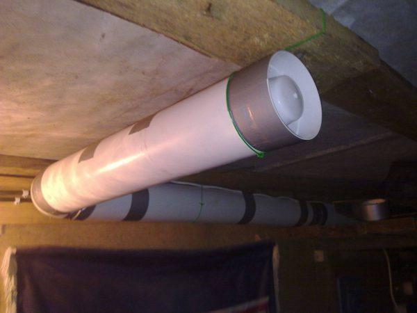 Вытяжка в подвале гаража